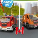 Jk Rc Fire Truck + Garbage Truck (2In1) 1/20